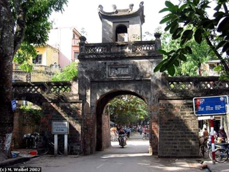 Hanoi Old City Gate- Next To my home