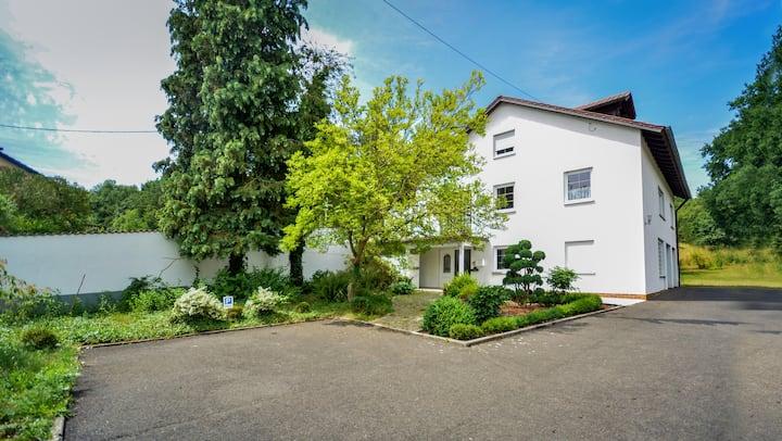 Apartment with spacious garden.