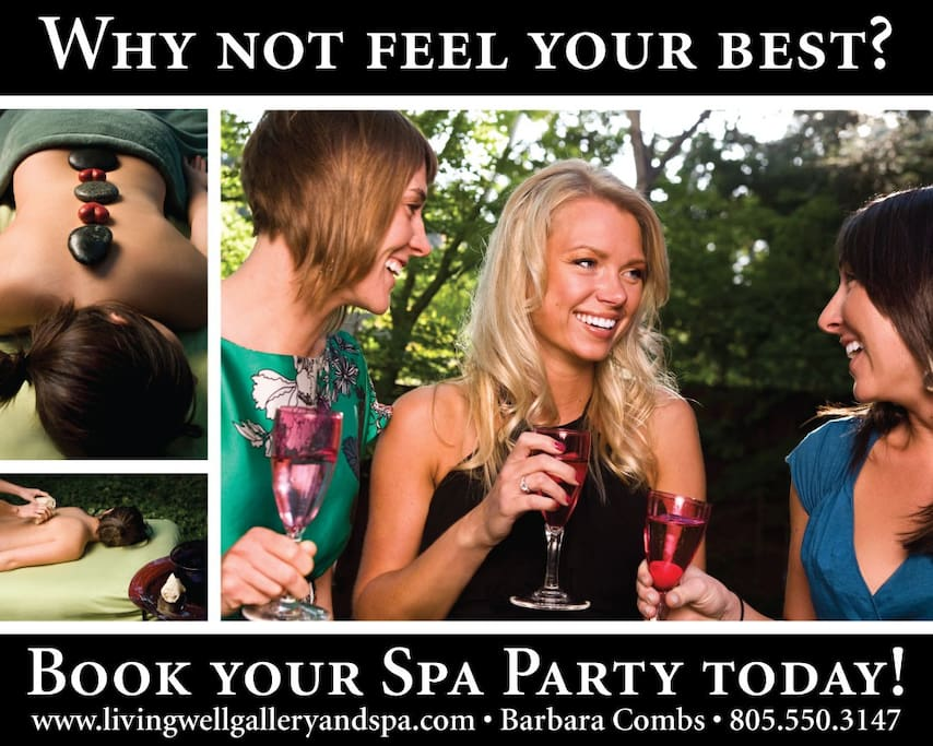 Book your spa party today