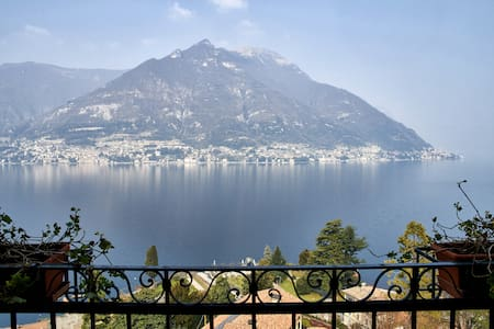 Balcony to the lake with aircon - Faggeto Lario
