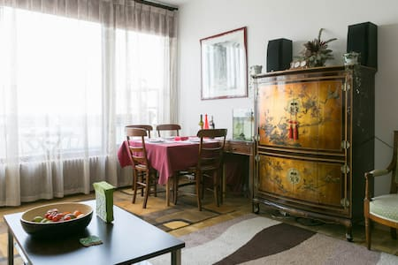Cosy flat centrally located along the Rhône River