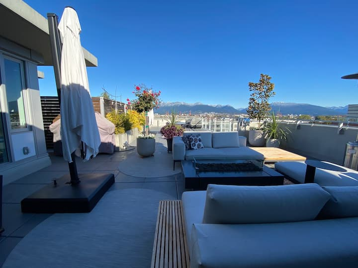 Beautiful Mt Pleasant Penthouse w/secured parking