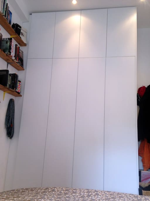 Giant new wardrobe for all your clothes and other bits and bobs.