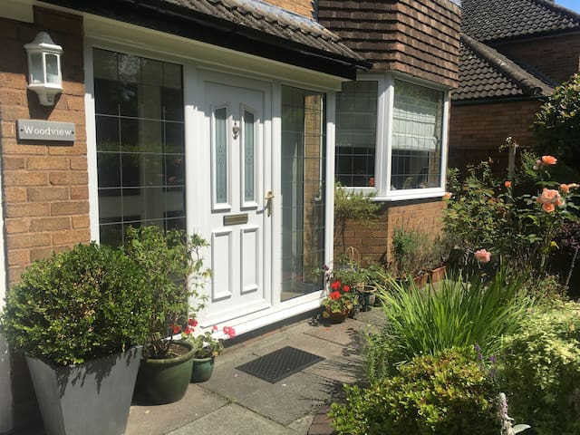 Clean, bright double room in a quiet village