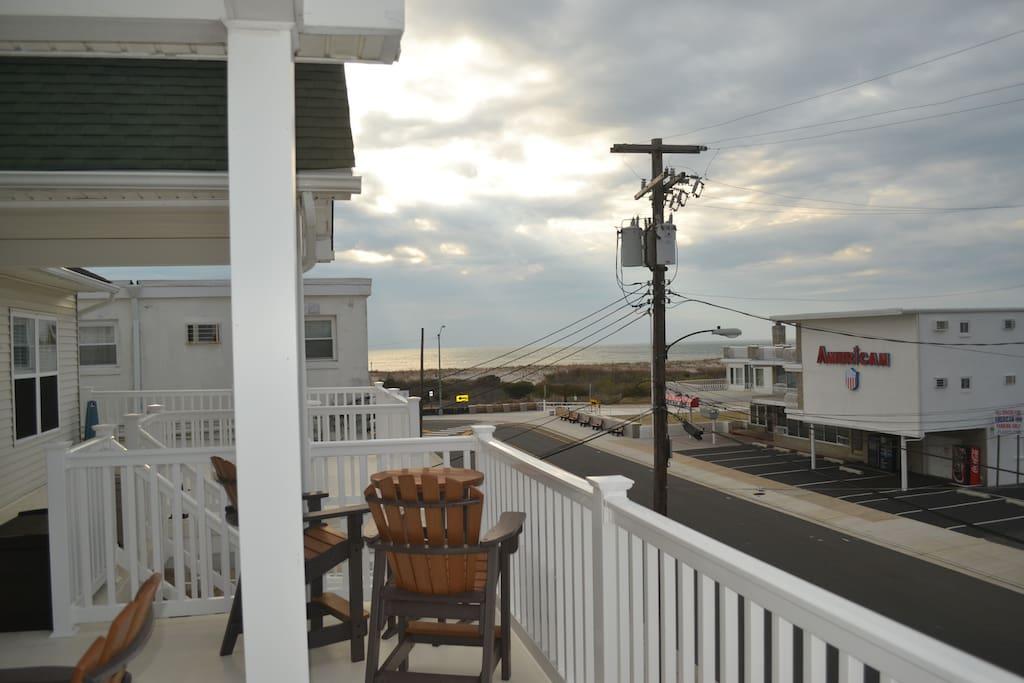 Beach block ocean view