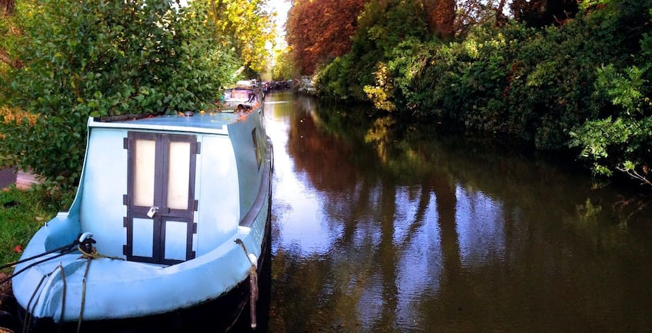 Narrowboat on idyllic Oxford Canal  - Oxford  - Bateau