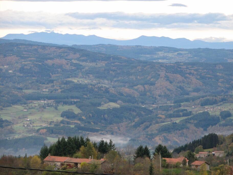 A perte de vue sur le Puy de Sancy !