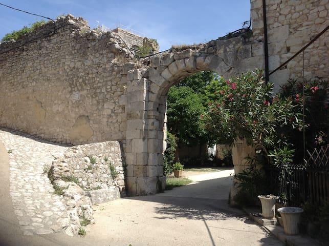 Historic courtyard in Drôme Provençale - La Garde-Adhémar