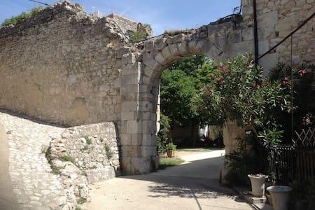 Historic courtyard in Drôme Provençale - La Garde-Adhémar - House