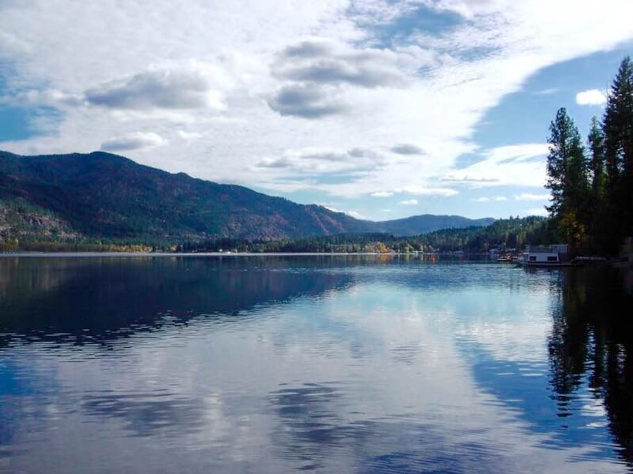 Nearby is Christina Lake in her legendary beauty.