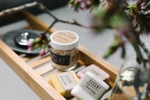 Locally crafted soaps are supplied