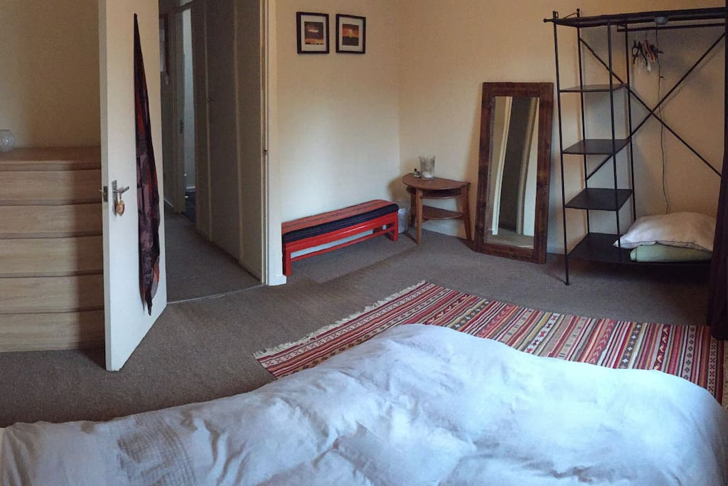 Light & bright double room with everything you need for a short stay.