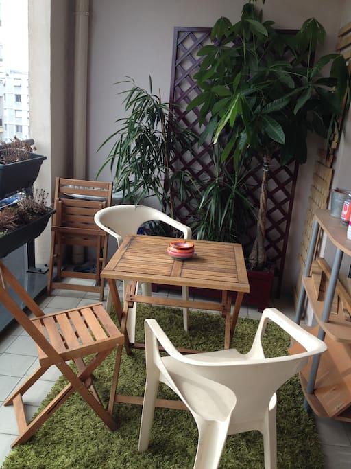 terrasse de 10 m²