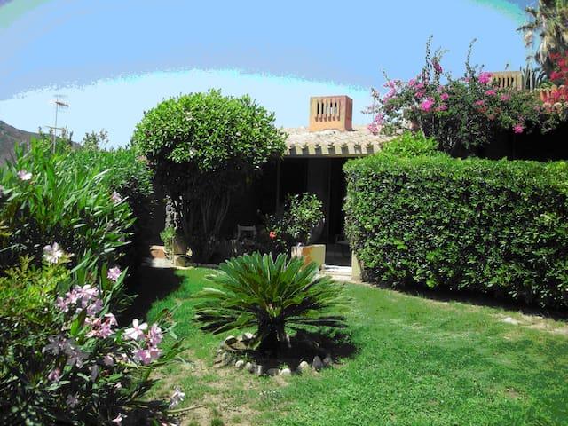 Giardino entrata della villetta