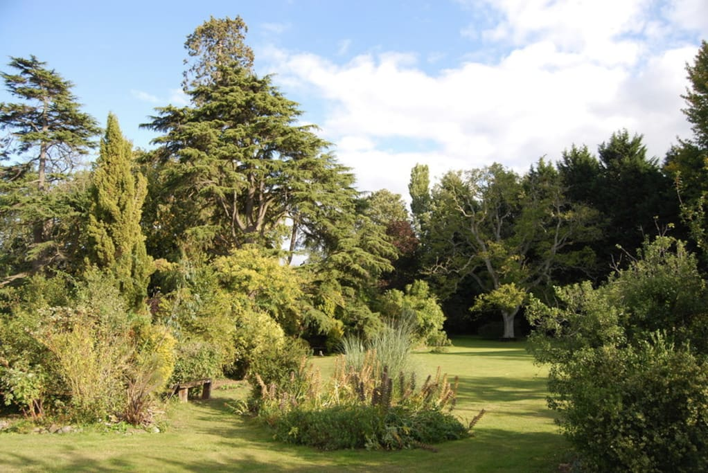 Enjoy the gardens at Langaller Manor, an oasis just minutes from Taunton