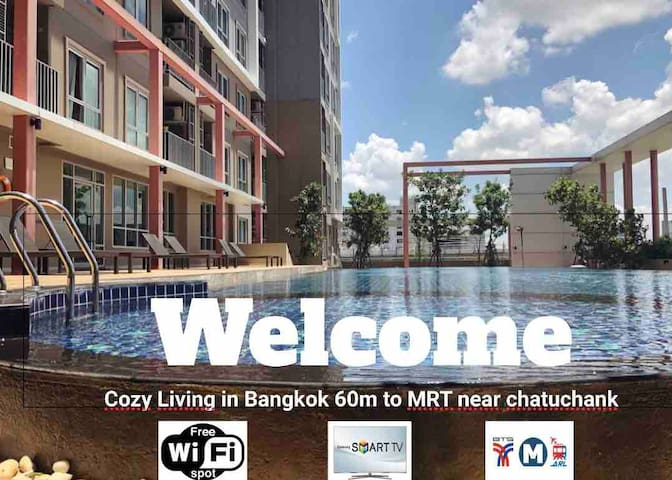 Cozy Living❤️in Bangkok 60m to MRT near chatuchank