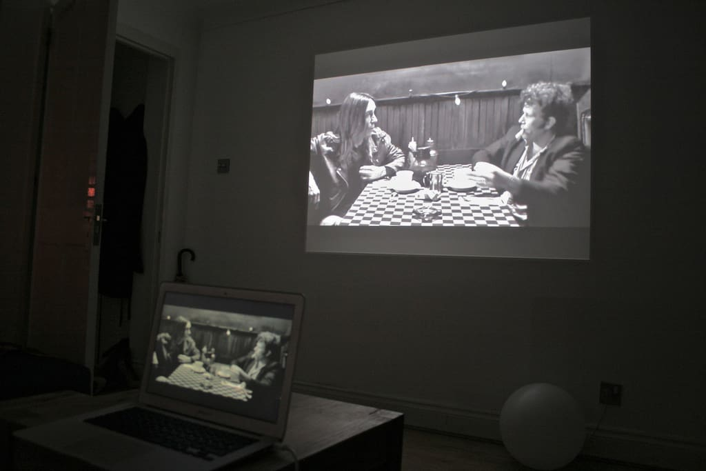 the projector at work
