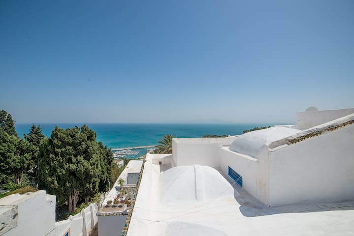 sidi bou said chambre ambar 4 pers - Carthago - Bed & Breakfast
