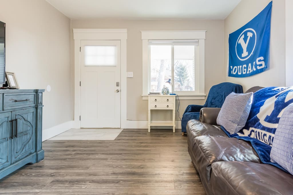 Welcome to the BYU Bungalow.  Where you can feel like a Cougar in your home away from home.
