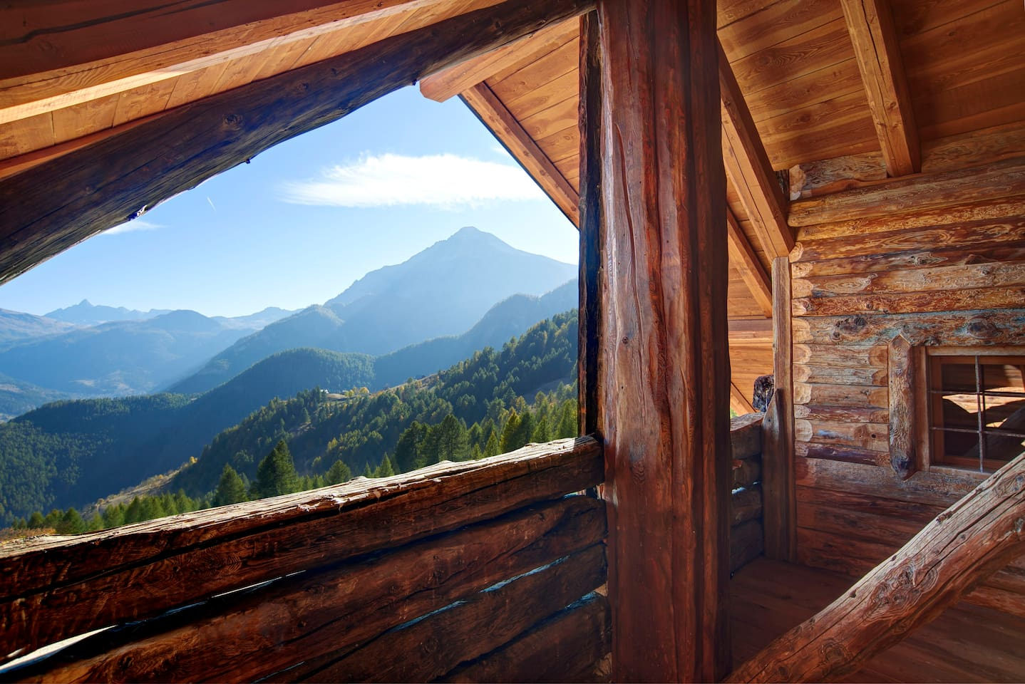 Astonishing view of the wilderness of the Susa Valley