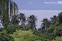 vista da casa para o mar