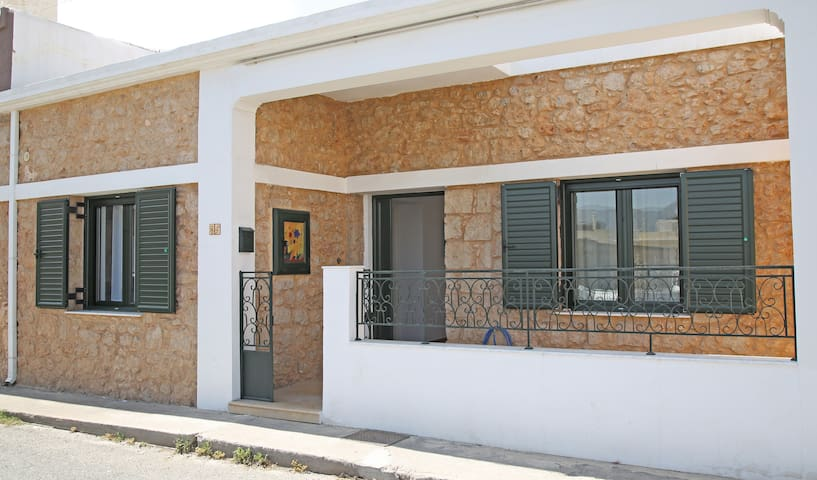 Stone house with a yard in Sitia.
