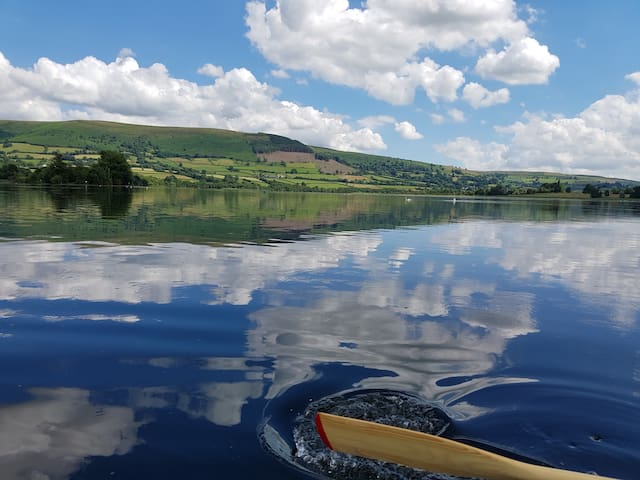Taken from the boat on Llangorse Lake