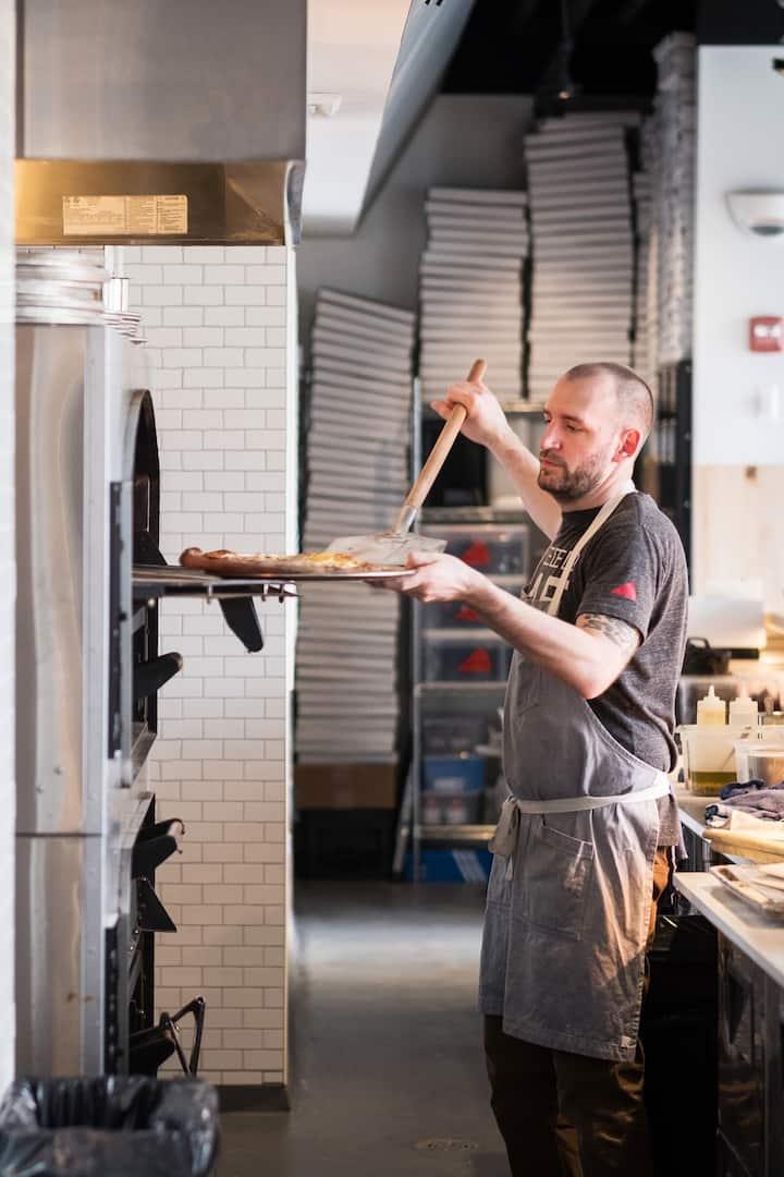 Jeff Lutzow at Pizzeria Bebu