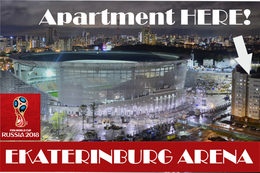Apartment just on the right side of EKATERINBURG ARENA