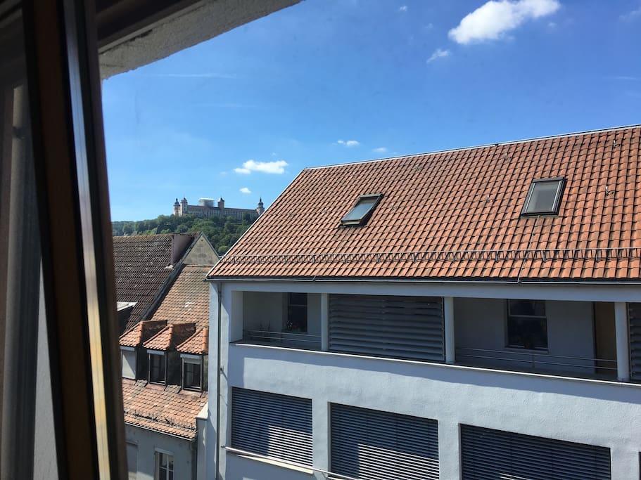 Ausblick von der Wohnung