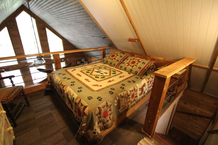 Loft queen  bed, another great view from up here!