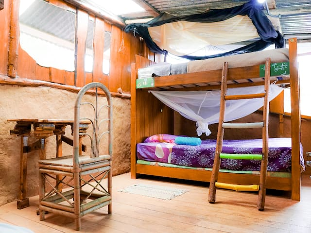 Dorm Bed - Permaculture Farm - Top bed 2