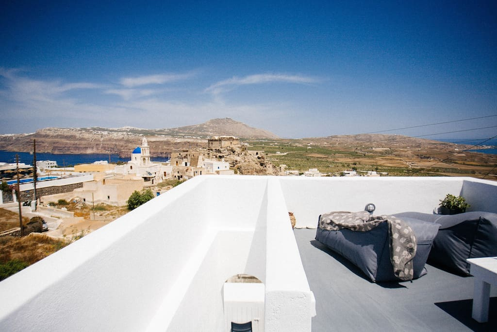 roof top with caldera view