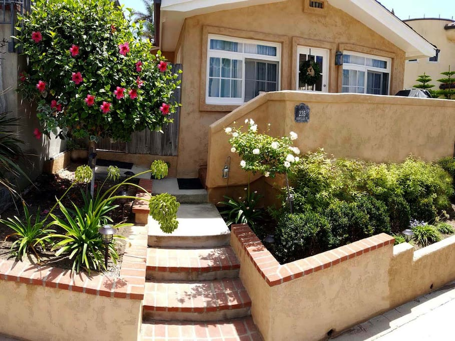 Our darling Seaside Cottage just steps from the sand at Windansea Beach