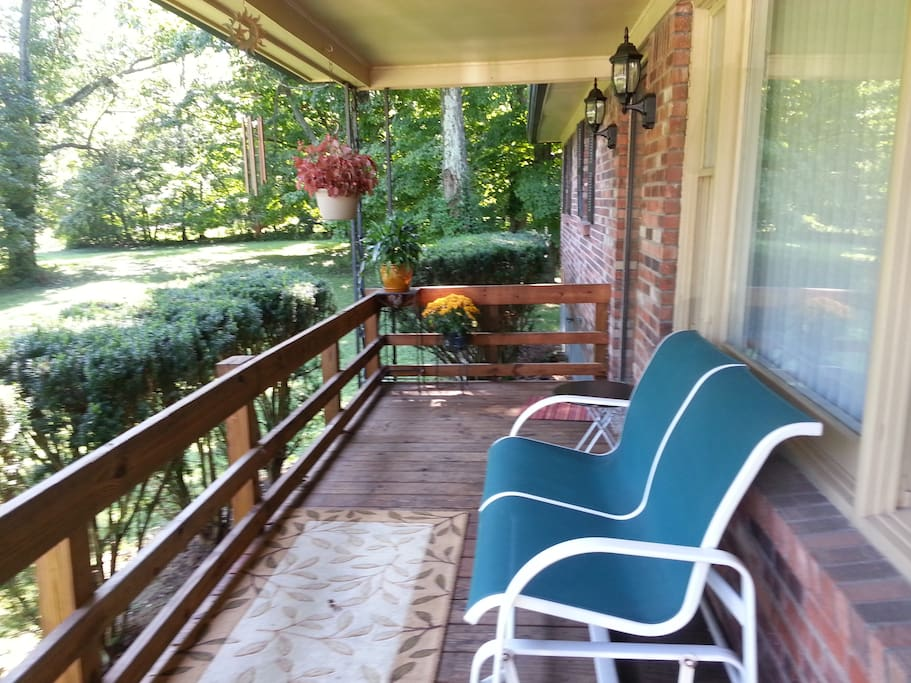 Relax and meditate on the front porch