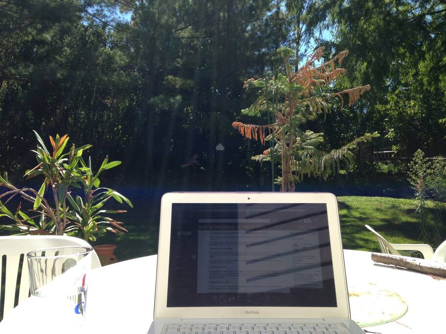 Home office in the Back Yard