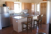 Modern kitchen with new appliances.
