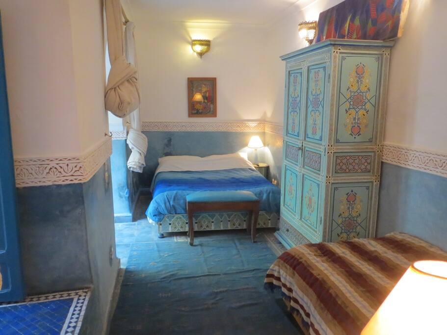 Riad Maizie Blue Courtyard Double