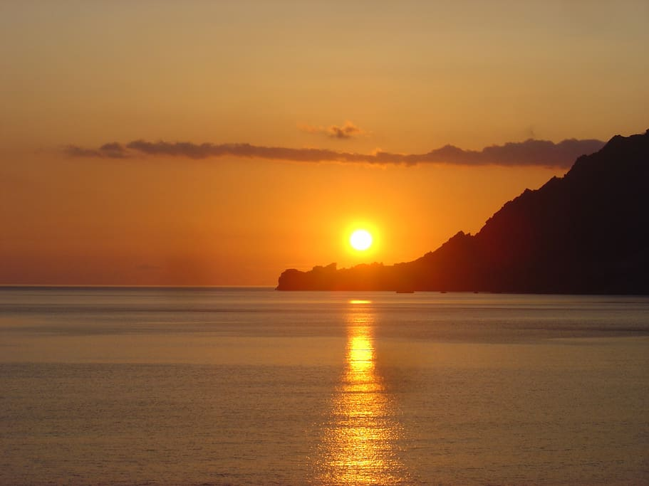 sun set from the house to Libyan sea
