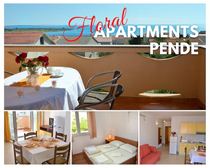 Floral Apartment Pende 6 - SeaView, Terrace & BBQ