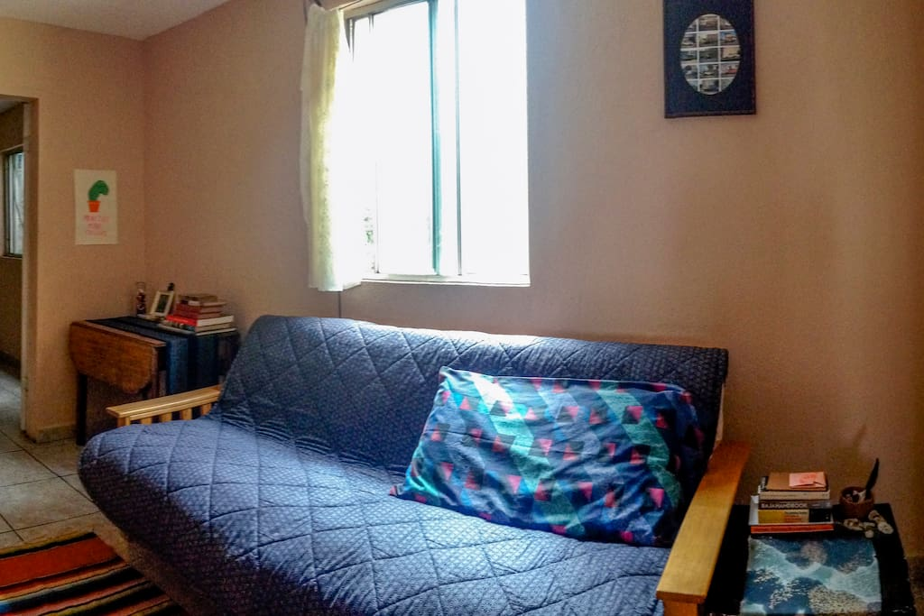 Guest room with futon, desk....