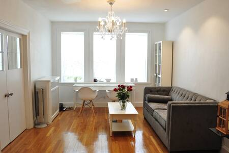 Sunny Bedroom Next to T, easy access to BU & BC - Boston