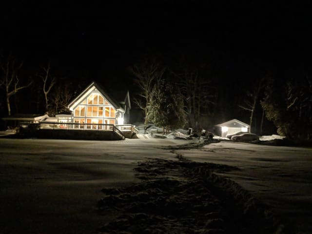 Our four-season cottage is just as lovely in the winter.