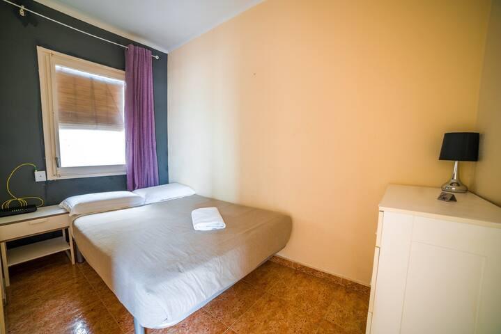 Habitación individual con cama grande!