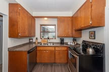 Full kitchen available to cook meals and make your morning coffee