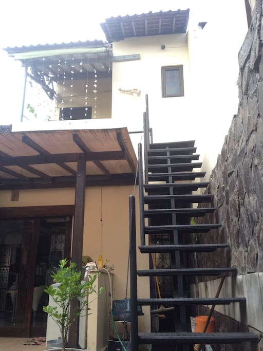 Private access to upstairs room from the side door.