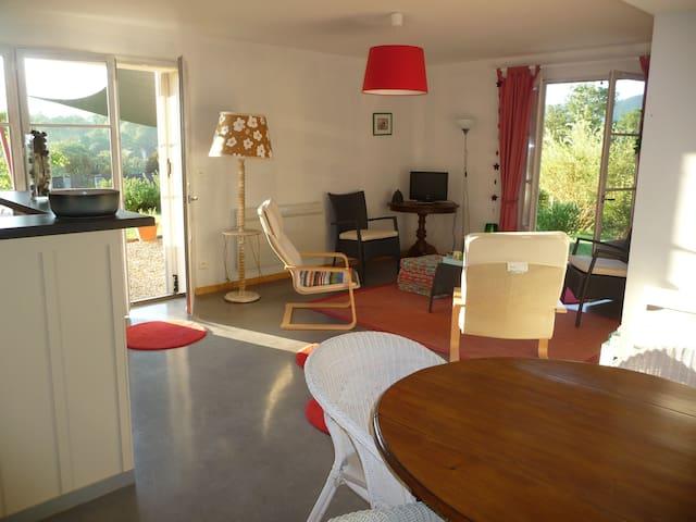Splendide vue Pyrénées, Rez de jardin, 2 chambres - saint girons
