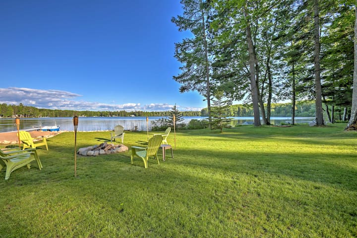 NEW! 3BR Lakefront  Interlochen Home w/ Dock