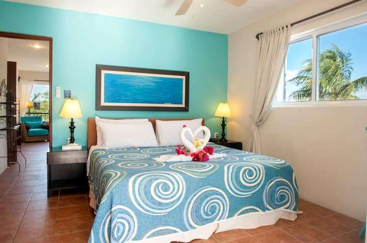 Beautiful large apartment king bed near the beach.