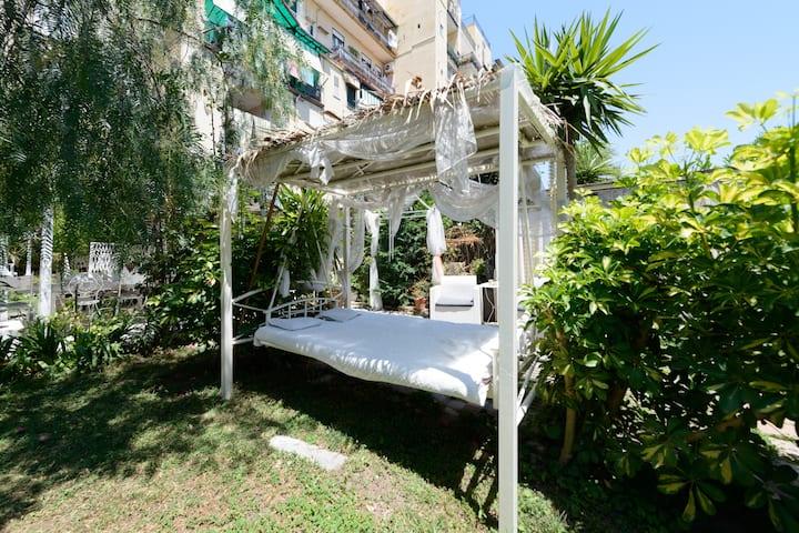 Appartamento per 4 con giardino fuori dal comune